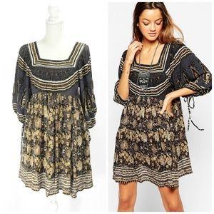 Free People Midsummer Dream Dress In Night Combo